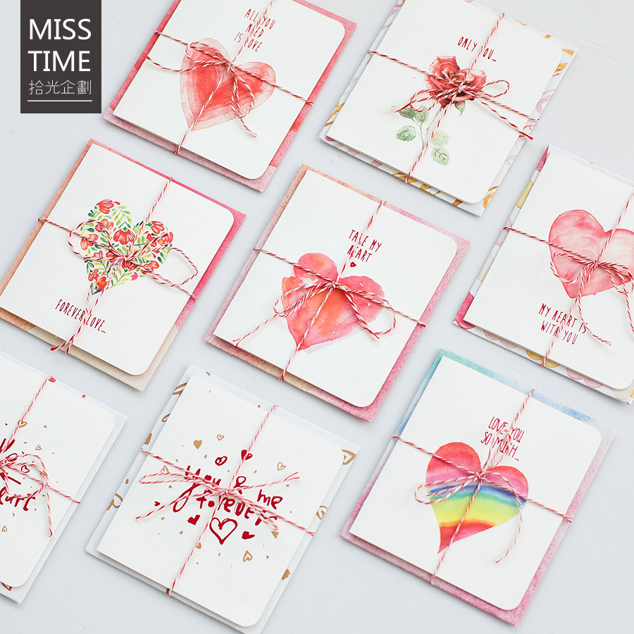 ALL YOU NEED IS LOVE Romantic Love Cards Cute Greeting Cards and Envelope Set for Birthday and Valentines' Day Gifts цена