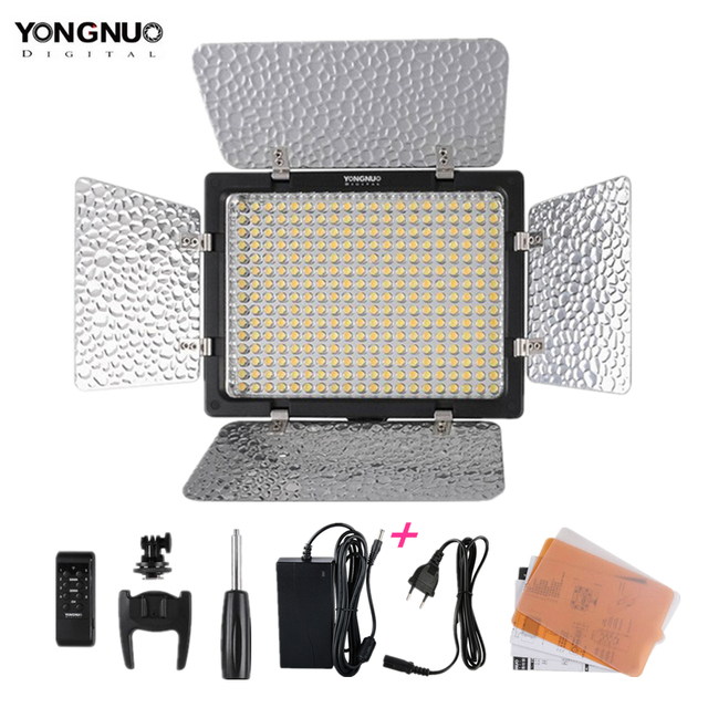 Yeni Yongnuo YN300 III YN 300 lIl 3200k 5500K CRI95 kamera fotoğraf LED Video ışığı AC güç ile adaptörü
