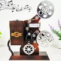 Movie Projector Music Box Working Ornament Song Collectors Cinema Clockwork Retro Vintage Style Retro Gift Home Decor