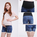 High Waisted Maternity Shorts Plus Size Denim Pants Clothes for Pregnant Women Short Clothing for Pregnancy 2015 Summer Fashion
