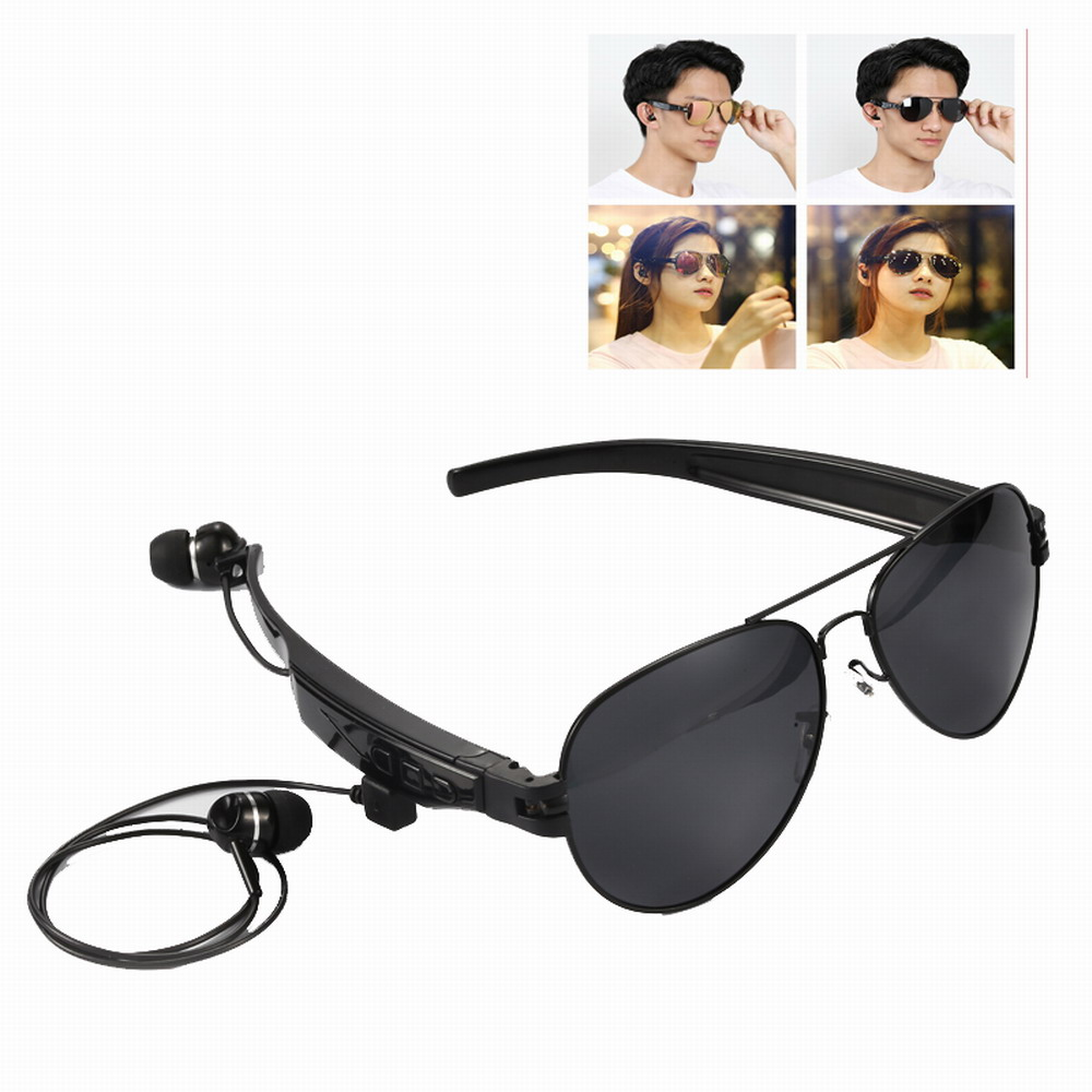 Fashion Sunglasses With Wireless Bluetooth Earphone Sport Headphones Sun Lens Riding Glasses Handsfree for Blackview A60 A20 A30