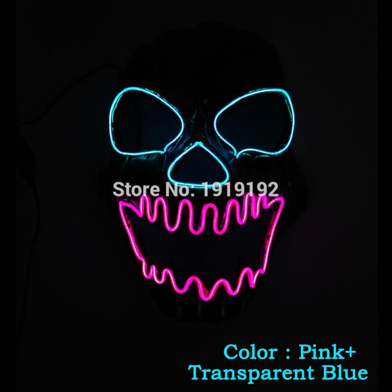 EL žična maska Light Up Neon lobarska LED maska za - Prazniki in zabave - Fotografija 1