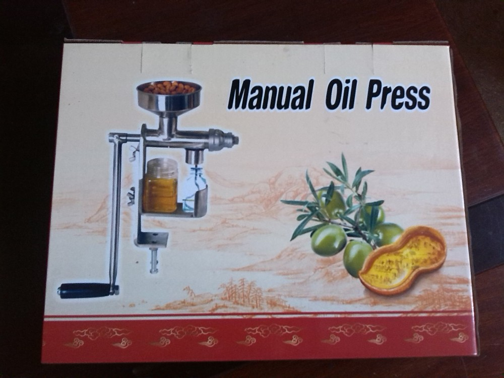 Free Shipping Oil Expeller Manual Oil Press Machine
