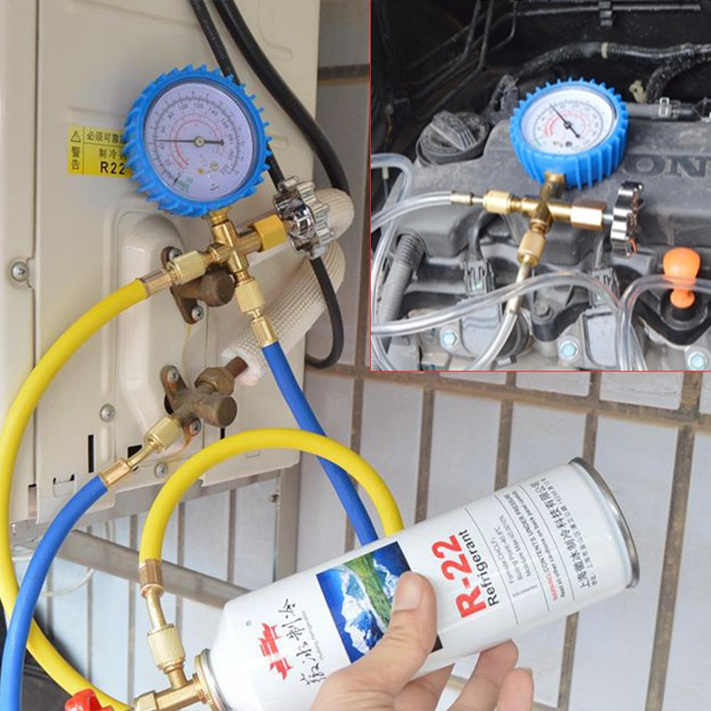 R22 Air Conditioning Fluoride Adding Tool Set Refrigerant Household Car Air  Conditioning F Adding Set Common Cool Gas Meter