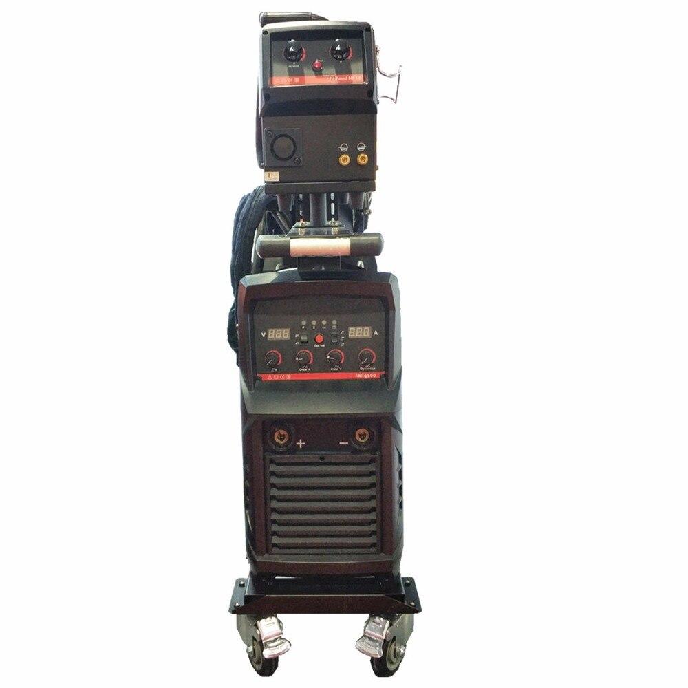 Multi Prozess Industrie 500A MIG Schweiß Maschine Inverter 4 Rolle Remote Draht Feeder Trolley MIG MAG WIG MMA Schweißen Ausrüstung