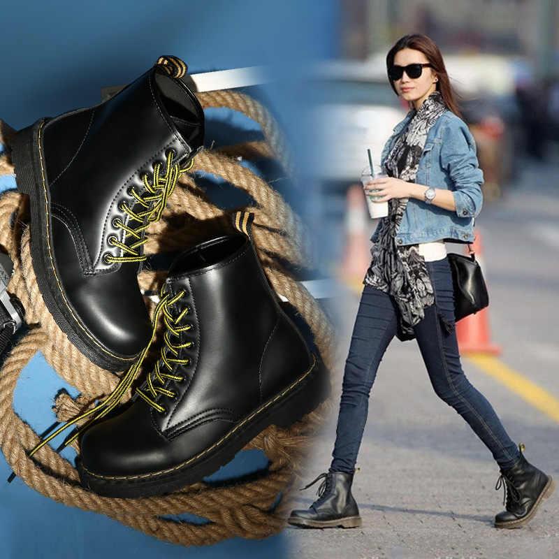 2019 ใหม่ผู้หญิงรองเท้าผู้หญิง Winter Boots Martin Boots รองเท้าผู้หญิงฤดูหนาวรองเท้าผู้หญิงรองเท้าบู๊ต Botas Mujer Plus ขนาด 43