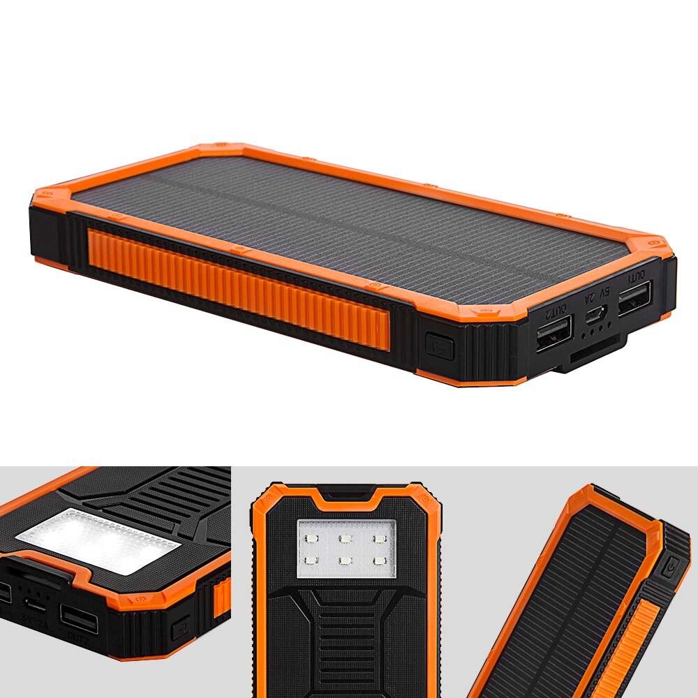 Banco do Poder tollcuudda poverbank solar power bank Bateria : Li-bateria de Polímero