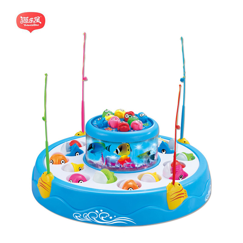Yuanlebao 26 Pieces Fishing Toy Bath Magnetic Toys Waterproof Floating Fish Playsets wit ...