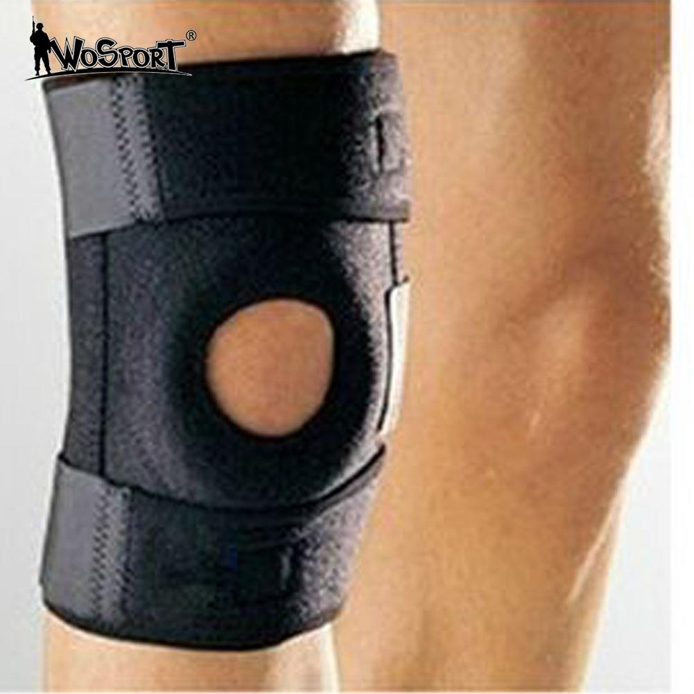 Adjustable Knee Brace Fastener Patella Support Guard Sport Black Relief Strapp