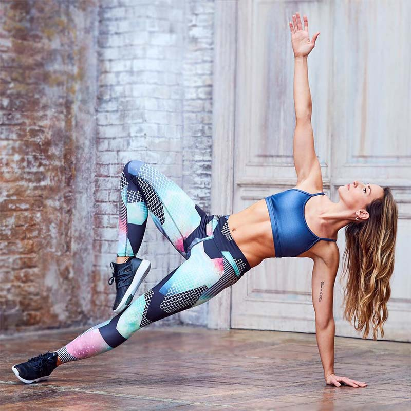 Slim Compression Pants Women Leggings Print Gradient Elastic Sport Tights Push Up Yoga Leggings Fitness Sportwear Outfit 2017