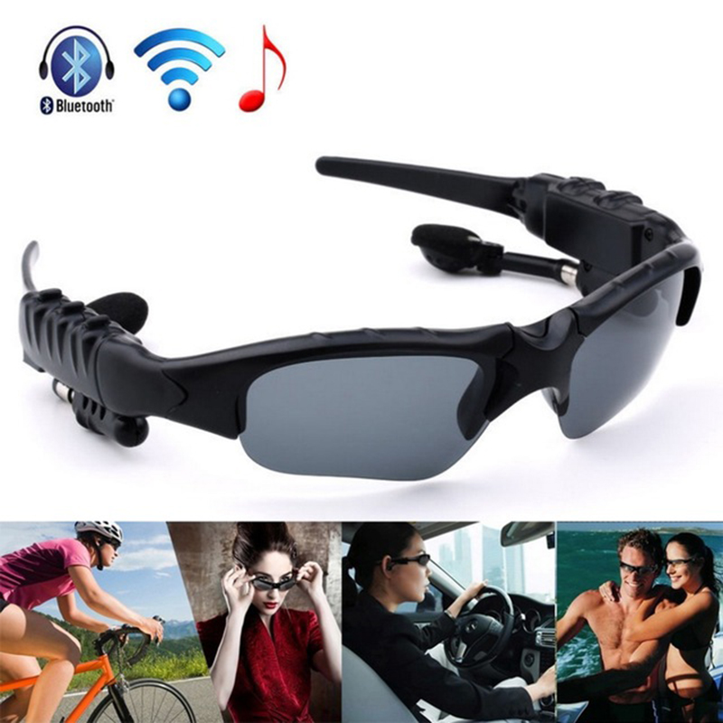 wholesale Hot Earphone Wireless Headphone Bluetooth Stereo Music Phone Call Hands free Sunglasses Headset For iPhone for Samsung wolf chain print long sleeve sweater