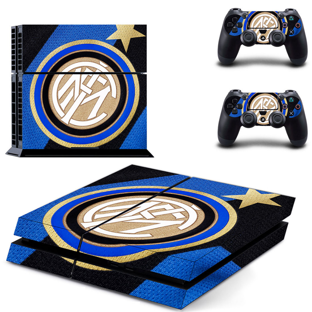 Inter Milan Football Team PS4 Skin Sticker Decal For Sony PlayStation 4 Console and 2 Controllers PS4 Skin Sticker Vinyl