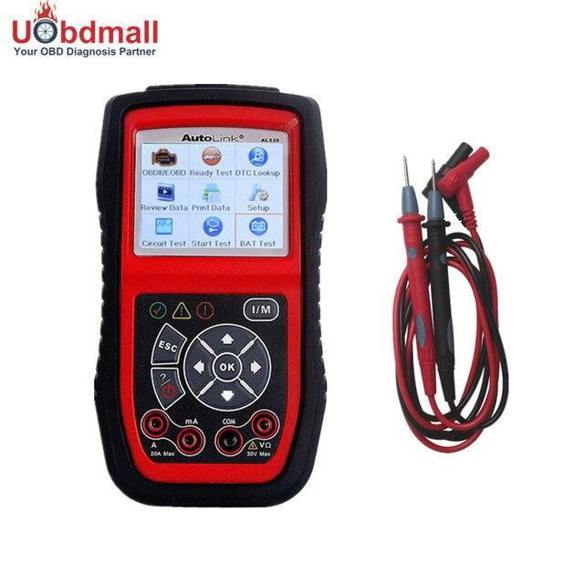 Autel AutoLink AL539b OBD 2 Code Reader Electrical Test Battery Scan Tool Auto Scanner Automotive Escaner Automotriz 3 in 1