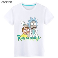 100 Cotton Summer Kids Adult Men S Anime Rick And Morty T Shirts Male White Cool