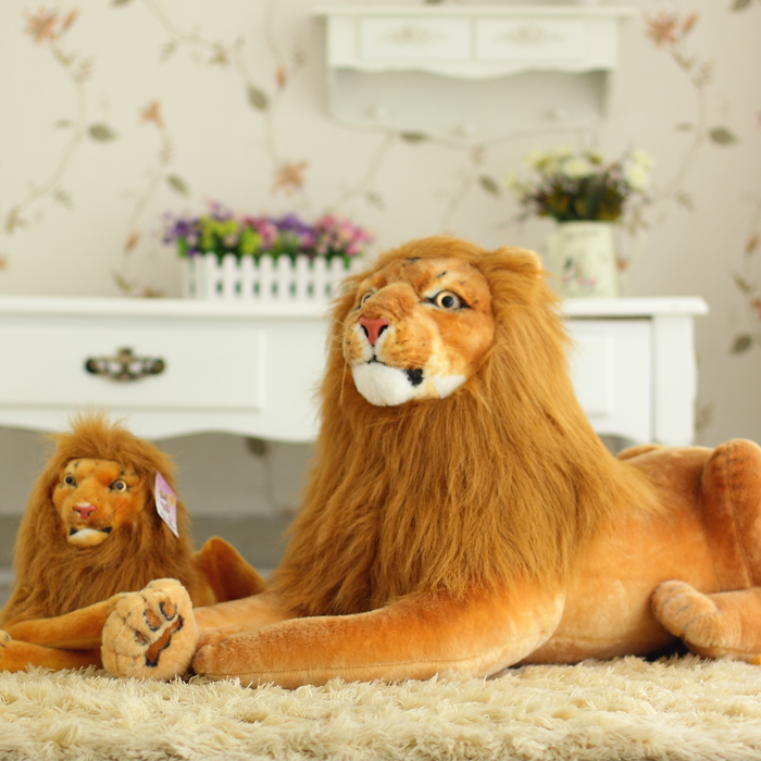 Scary Squeeze Stuffed Animals, High Quality Forged Giant Lion 1m Plush Toy Lion King Doll Cloth Doll Artificial Animal Doll Gift Gift Pen Gift Box Engagement Cakedoll Kimono Aliexpress