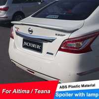 For Nissan Altima Rear Trunk Lid Car Spoiler Wings 2013 14 15 Quality ABS Plastic Ducktail Lip Spoiler For Altima Painted Color