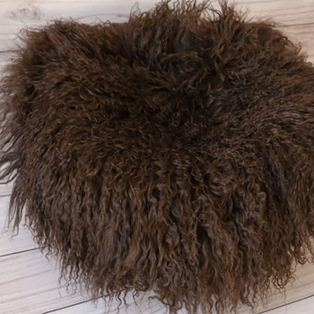 Chunky Wool Blanket Photography Prop Newborn Posing Fur Curly Lamb Rug Baby Boy Wool Fur Photo Props Chunky Baby Blanket Layer