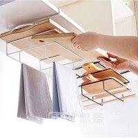Opknoping mand keuken opslag afstandsbediening kantoor houder kabinet organizer deur hanger planken multifunctionele handdoekenrek