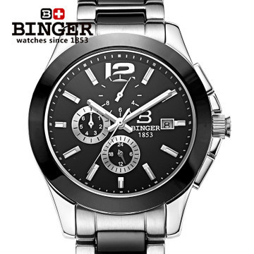 Здесь можно купить   Free Shipping New 2017 Mans Dress Automatic Watches Geneva Ceramic wristwatch Men Binger Watch Luxury Casual Relogio Часы