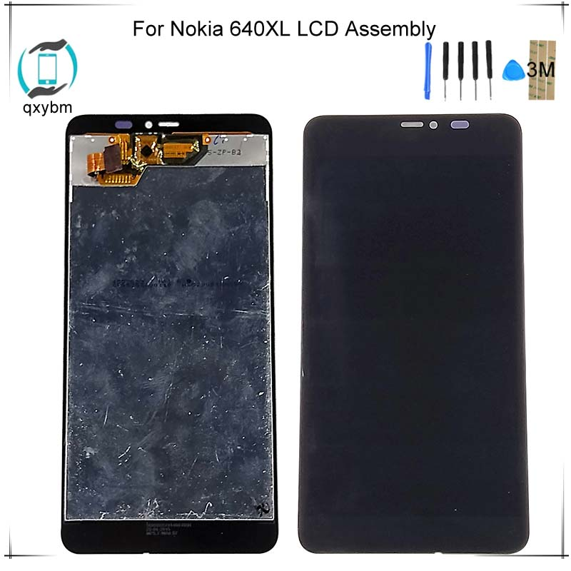 5.7inch For Nokia Lumia 640xl 640 Xl Lcd Display With Touch Screen Digitizer Assembly Replacements Parts With Free 3m Sticker