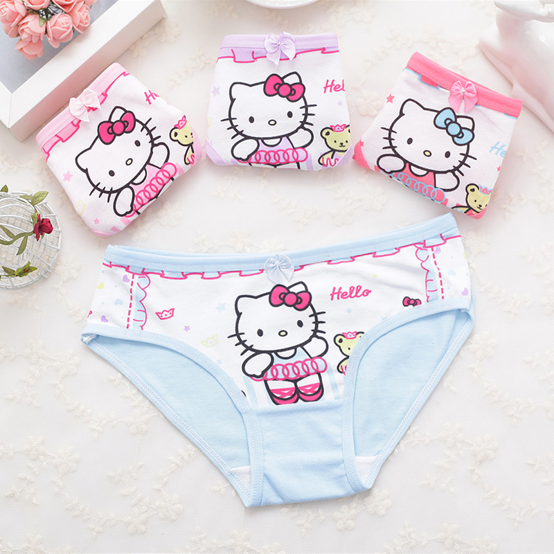 1 Pcs Cotton Kids Everyday Short Briefs Panties Baby Girls Cute Underwear Children Girls Cartoon Shorts Underpants 2-11T