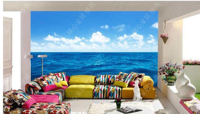 Mural home 3d wallpaper natural living room background for Nature room wallpaper