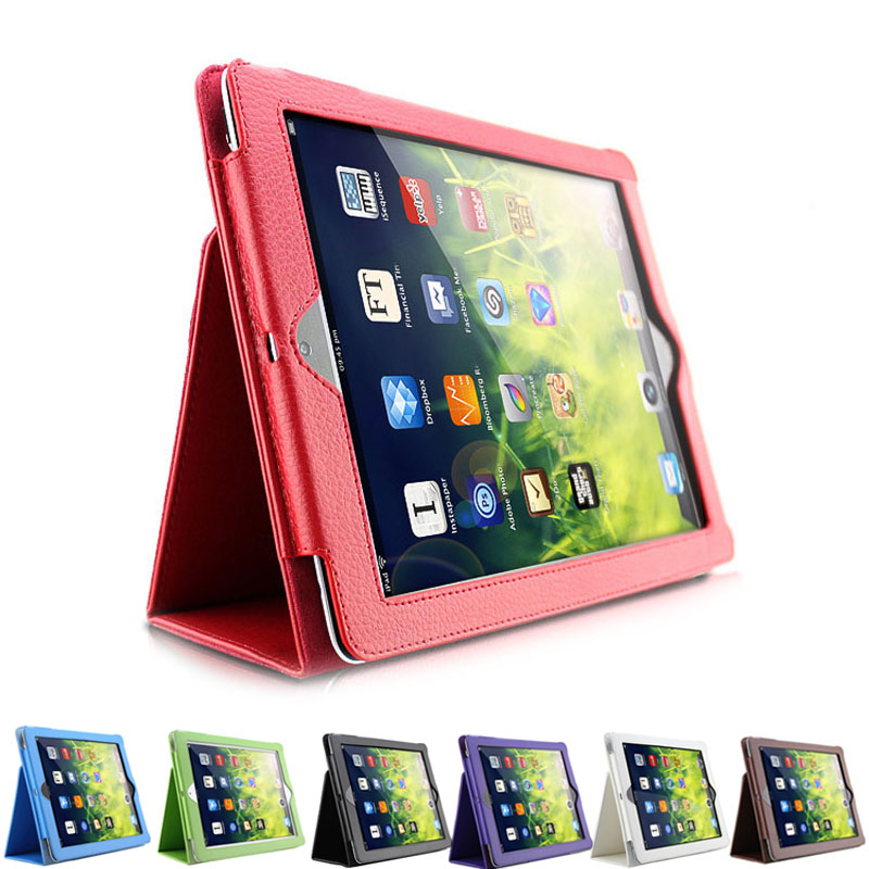 Magnetic Auto Wake Up Sleep Cover Flip Litchi Leather Case Smart Stand Holder For Apple ipad2 3 4  QJY99 hot sale high quality flip pu leather case for apple ipad mini 1 2 3 with retina smart stand sleep wake up pouch cover