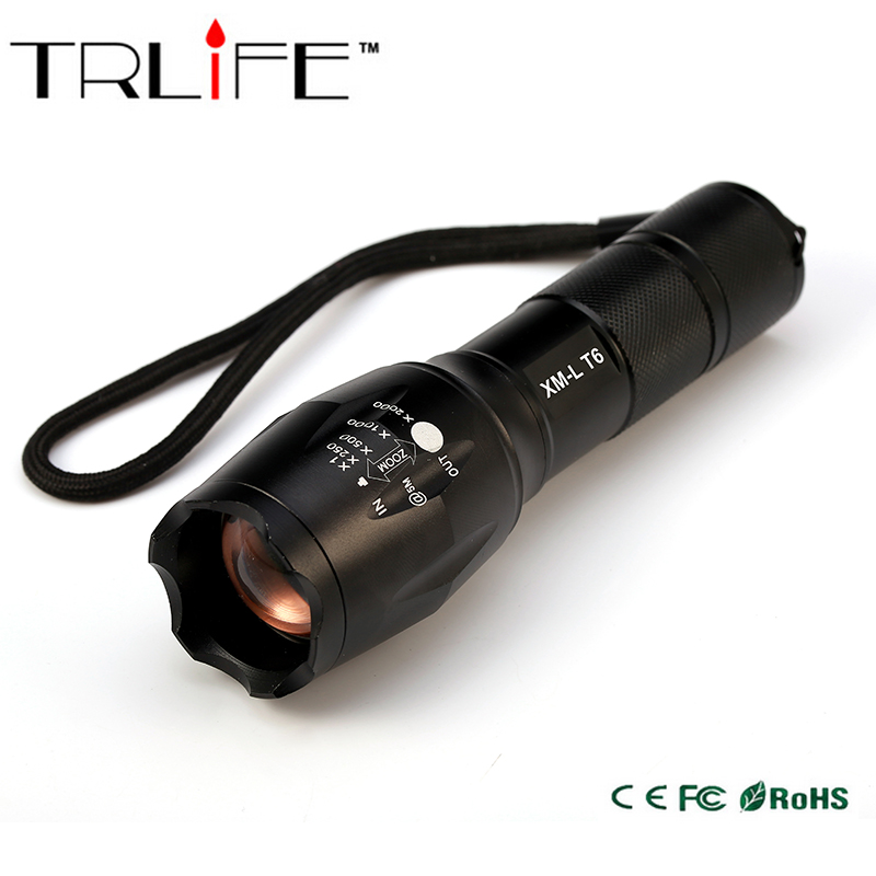 цена на Big Promotion Ultra Bright CREE XML T6 LED Flashlight 5 Modes 3800 Lumens Zoomable LED Torch Free shipping