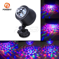 POSSBAY Colorful 3 LED 6 LED Disco DJ Stage Music Rhythm Activated Car RGB LED Car