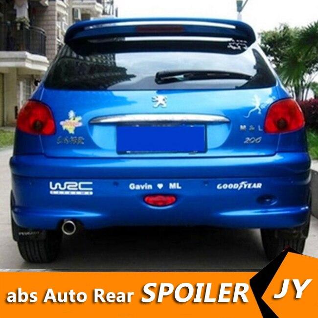 Realistisch Voor Peugeot 206 Spoiler 2008-2013 Peugeot 206 Spoiler Hoge Kwaliteit Abs Materiaal Auto Achtervleugel Primer Kleur Achter Spoiler Mooie Glans