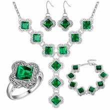 Thick silver plated jewelry set of 925 wholesale fashion