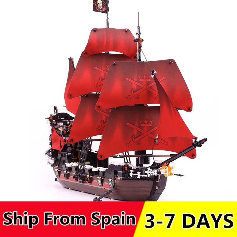16009 16006 pirates of the caribbean ship Building Blocks Compatible 4184 4195 Self Locking Bricks Children