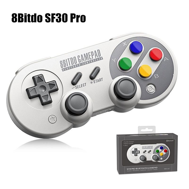 Nuovo 8 Bitdo SF30 Pro Wireless Bluetooth Game Controller Gamepad con Joystick per Windows, Android, macOS, Vapore, Nintendo Interruttore