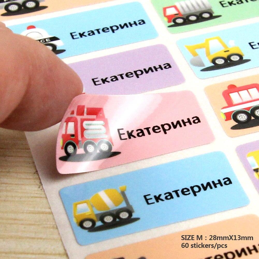 IL TRASPORTO LIBERO 60 Adesivi Nome del Fumetto Water Proof Decalcomanie Multicolore Etichette Etichette Per Bambini Adesivi Affari Etichette