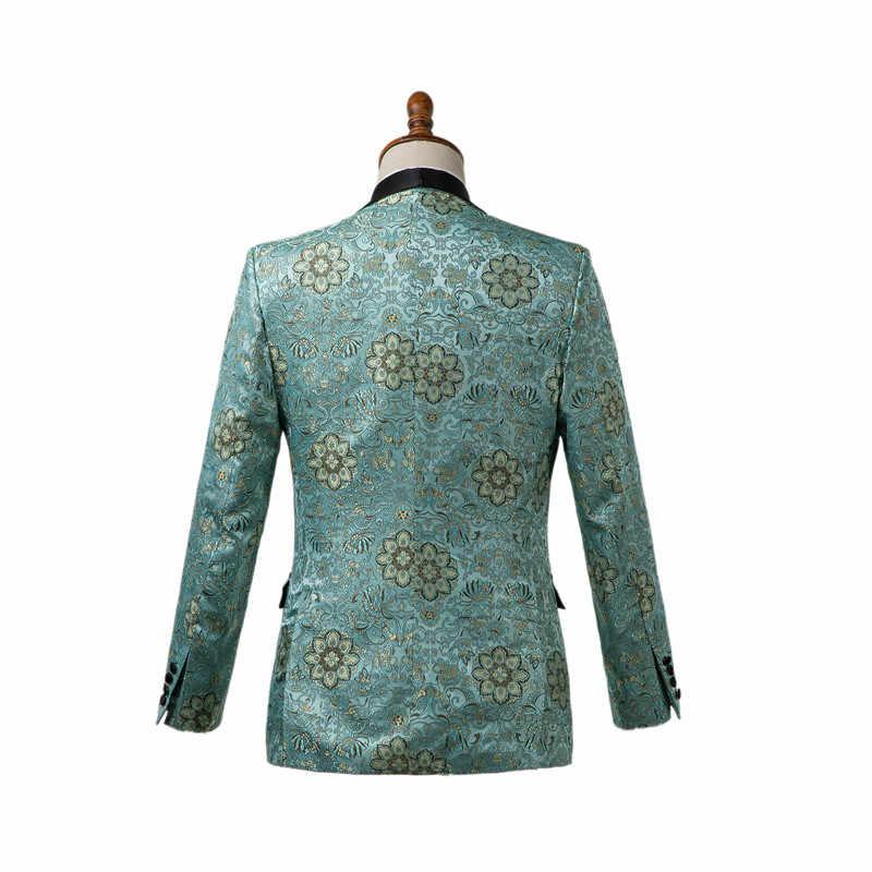 Gwenhwyfar wykonane na zamówienie mięta zielona mężczyźni smokingi garnitury Slim Fit męskie garnitury ślubne pan młody formalne Party Prom garnitur 2 sztuka kostium homme