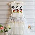 Verano 2017 niñas marca de diseño de ropa para niños set para niñas niños ropa conjuntos trajes de juego de los deportes ocasionales