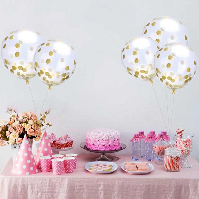 10 Sztukpartia 12 Cal Jasne Konfetti Przezroczysty Balony Balony