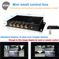 Controle IR 4 Câmeras de Vídeo Câmeras Imagem Carro de Controle Interruptor Combinador caixa para a caixa de vista Esquerda Direita vista Frontal Câmera Traseira De Estacionamento