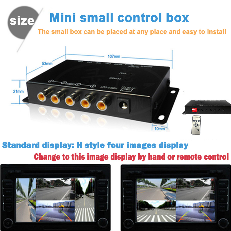 ИК-контроль 4 камеры видеонаблюдения изображение автомобиля камеры переключения коробки combiner для слева вид справа Вид коробки спереди парковочная Камера заднего вида