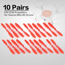 10 Pairs CW CCW RC Propellers Mini Props Blades Spare Parts for Xiaomi Mitu RC FPV Drone Quadcopter Aircraft UVA Toys Accs стоимость