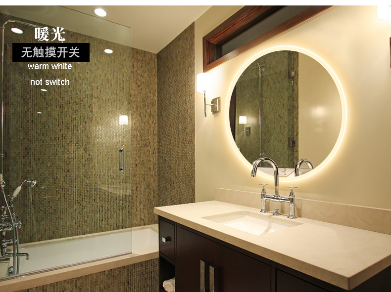 Bathroom Wall Sconce Round Dressing Room Led Mirror Light Bathroom Mirror Light Makeup Lamp Vanity Lighting Makeup Mirror Lamps 3