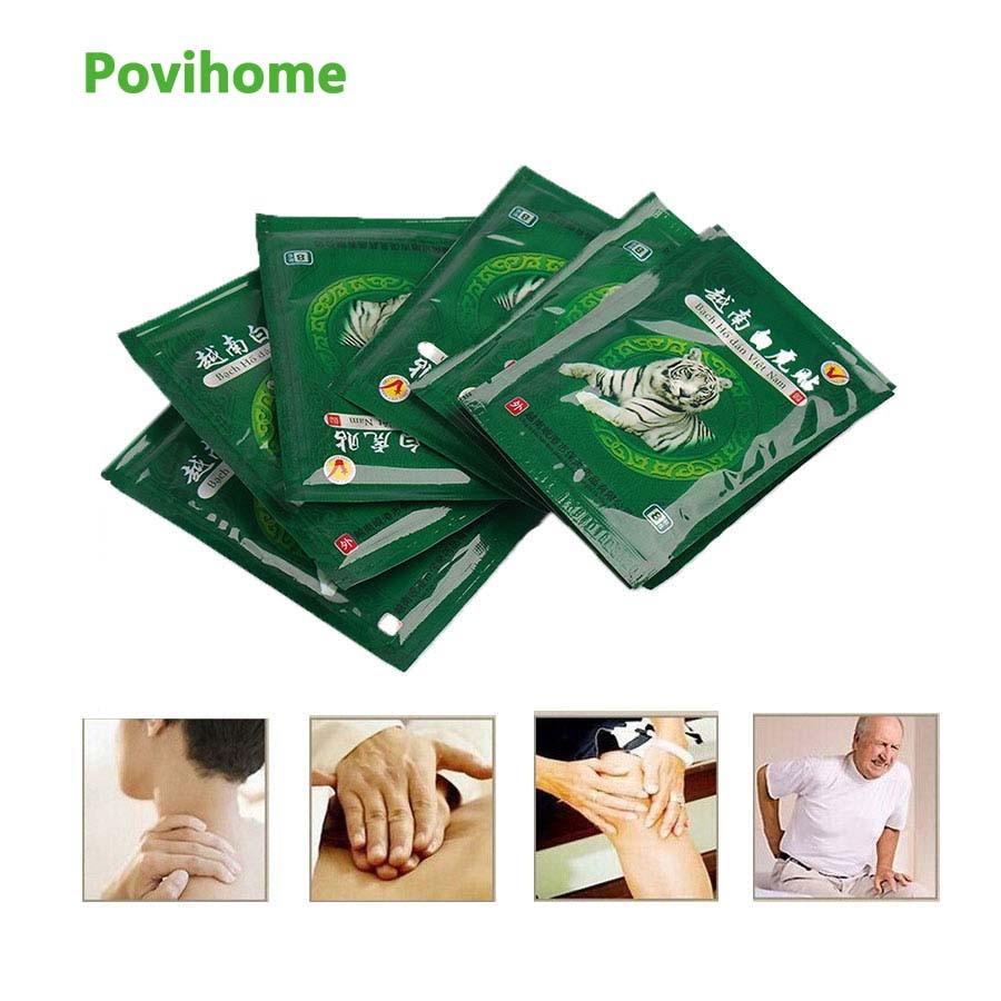 48 stücke Vietnam Cremes Weiß Tiger Meridiane Patch Rheumatoider Arthritis Lenden Spondylose Bein Schulter Körper Balsam Gips C069