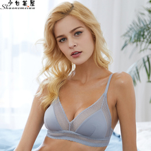 shaonvmeiwu No sponge triangle cup womens underwear red benming year bra without steel ring ultra-thin style