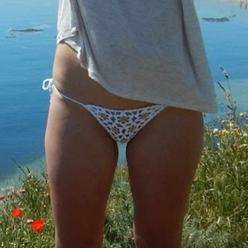 Hand häkeln spitze tanga string applique Mini bikini bademode Sonnenbaden bikini