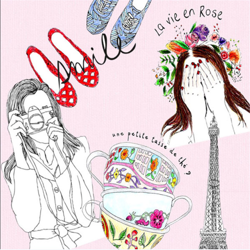 English Paris Secret Coloring Book Secret Garden Style Coloring Book ...