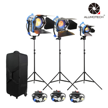 ALUMOTECH As ARRI Dimmer Built-in 150W+300W+650W Fresnel Tungsten Spot Lighting+Air Cushion StandX3++case For Studio Video Photo