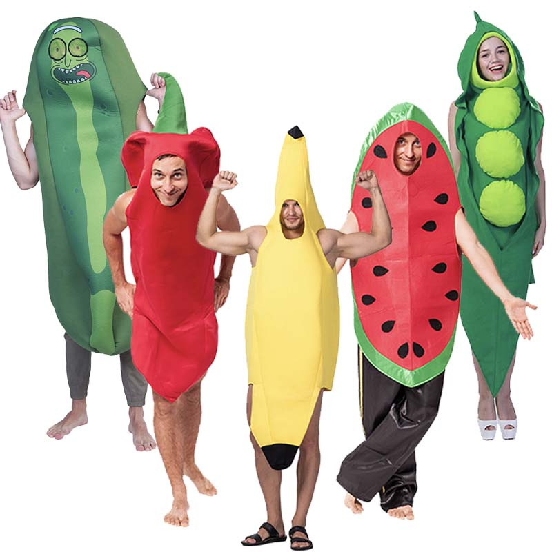 2018 Cosplay Funny Vegetable And Fruit Halloween Costume For Adult Game Fantasia Clothing Party Decoration Novelty Xmas Carnival