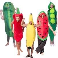 2018 Cosplay śmieszne warzywa i owoce kostium na halloween dla dorosłych gry Fantasia odzież strona dekoracji nowość Xmas karnawał na