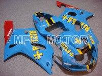 Для Suzuki GSXR600/750 K1 K2 2001 2002 2003 01 02 03 впрыска зализа ABS Наборы rizla + синий/красный
