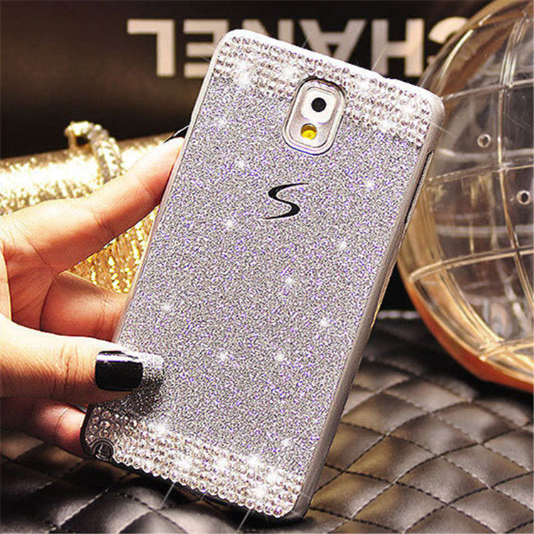 For Samsung S3 S4 S5 S6 S7 edge Plus Note 3 4 5 Fashion Cute Glitter Rhinestone hard back Shell cover Crystal Diamond Phone case
